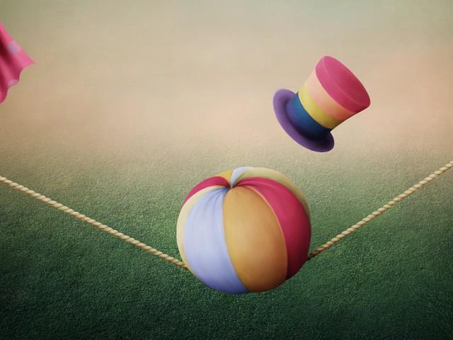 Palla in equilibrio